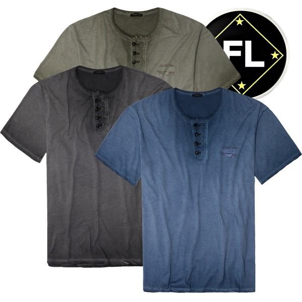 Lavecchia Trend T-Shirt mit Knopfkragen