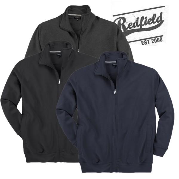 Redfield  Sweatjacke ohne Kapuze