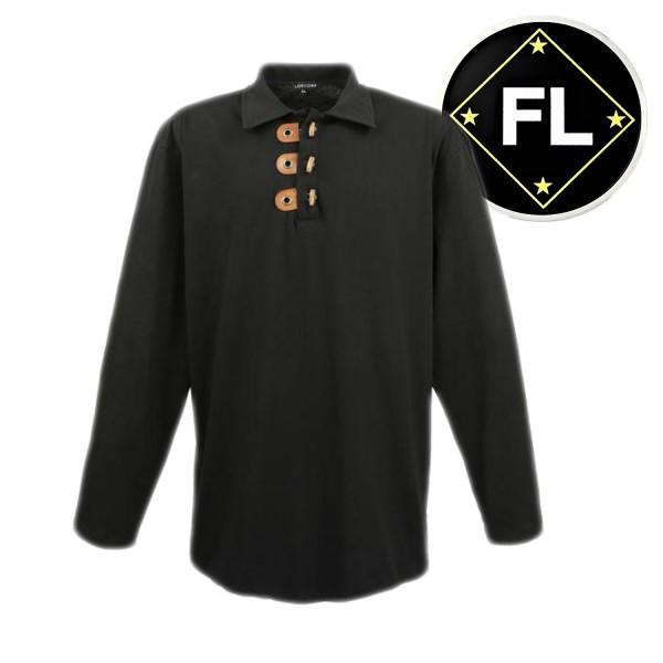 Lavecchia langarm Shirt mit ausgefallener Knopfleiste