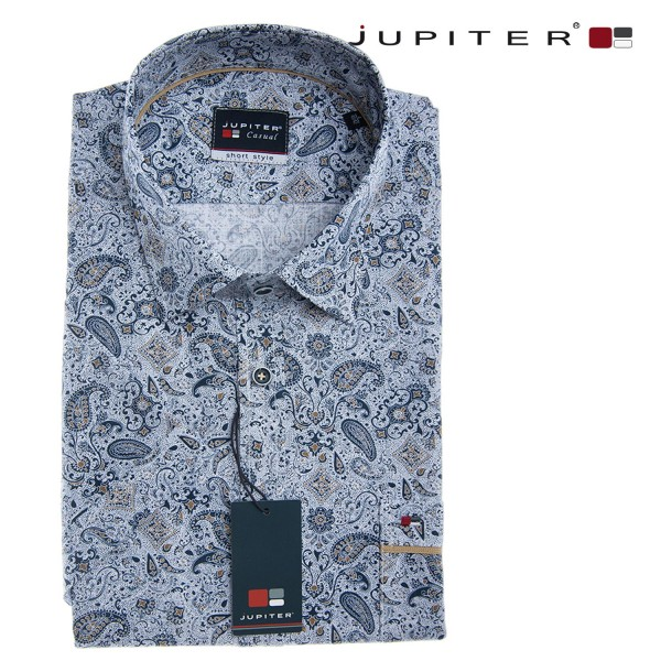 Jupiter halbarm Sommerhemd mit Paisley Muster