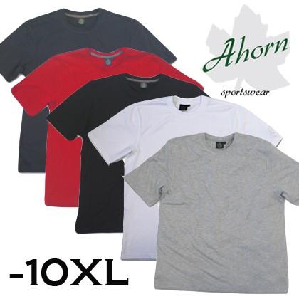 Ahorn Basic T-Shirt mit Rundhals