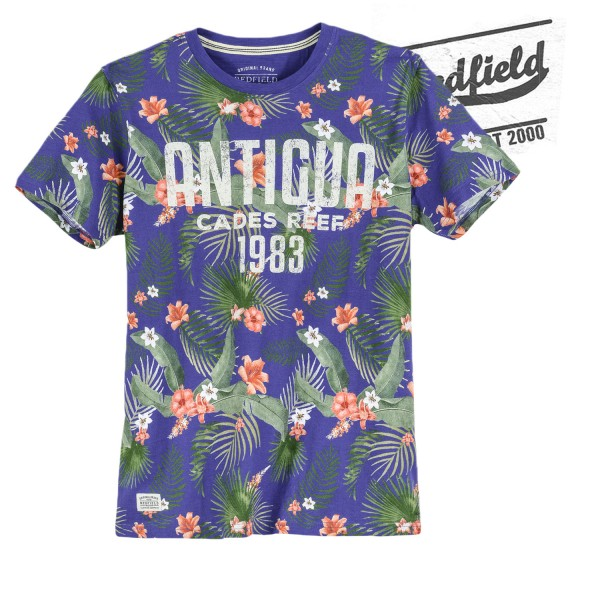 Redfield T-Shirt  Antigua mt Haweiblumenmuster