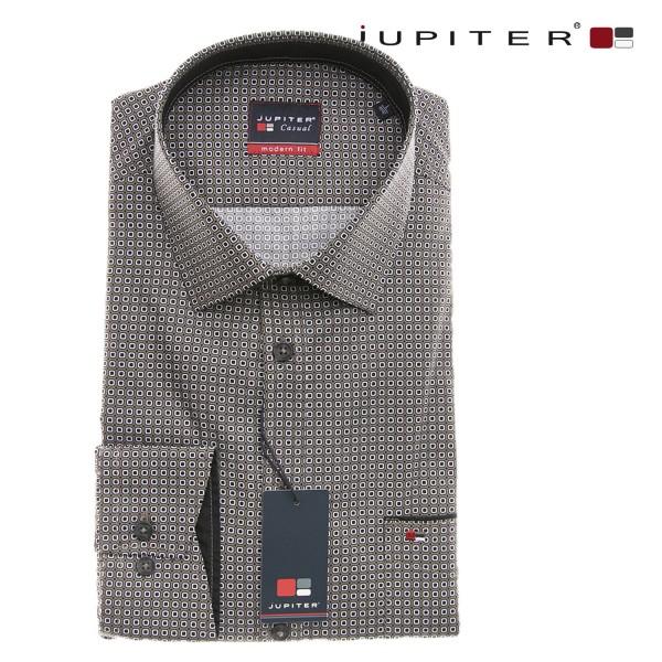 Jupiter 1/1 Hemd in braun mit kleinen weiß schwarzen Muster
