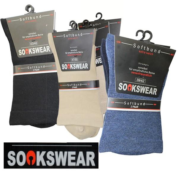 Softbund Sensitive Socken im Doppelpack von Sockswear