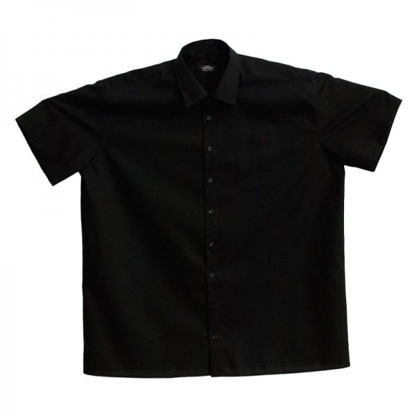 JUPITER Sommerhemd uni schwarz