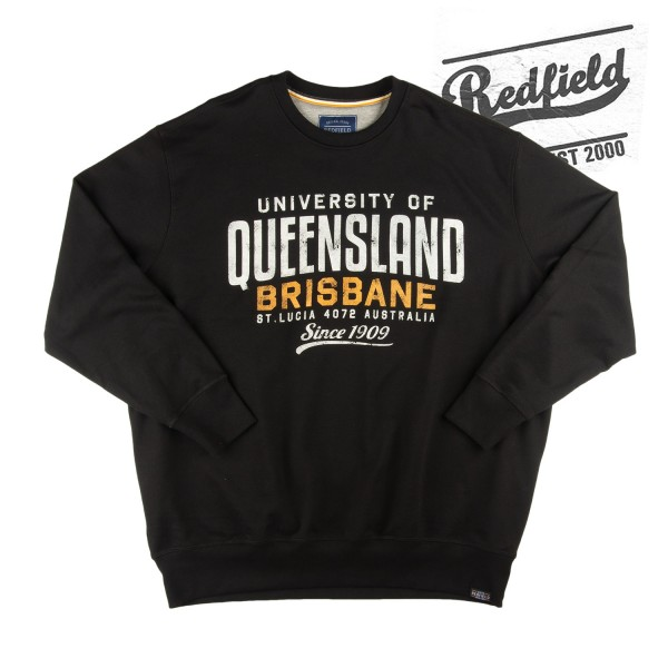 "Redfield  Sweatshirt ""QUEENSLAND"" in schwarz"