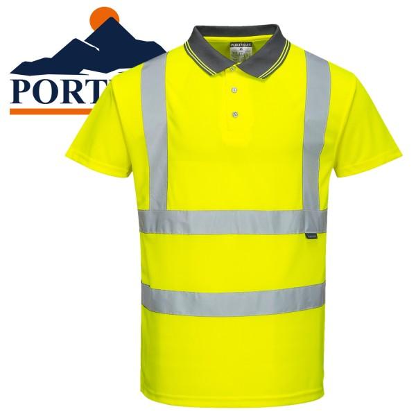 PORTWEST Warnschutz kurzarm Poloshirt