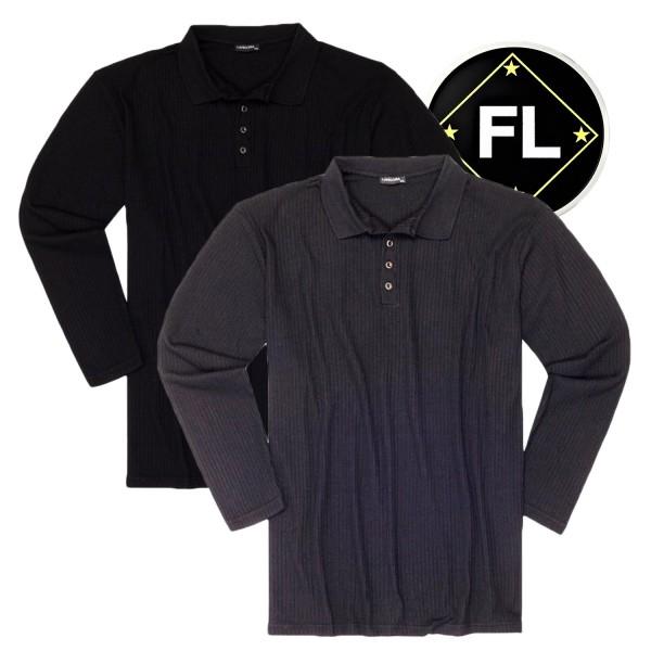 Lavecchia Feinstrick Pullover mit Knopfleiste in Ripp-Struktur