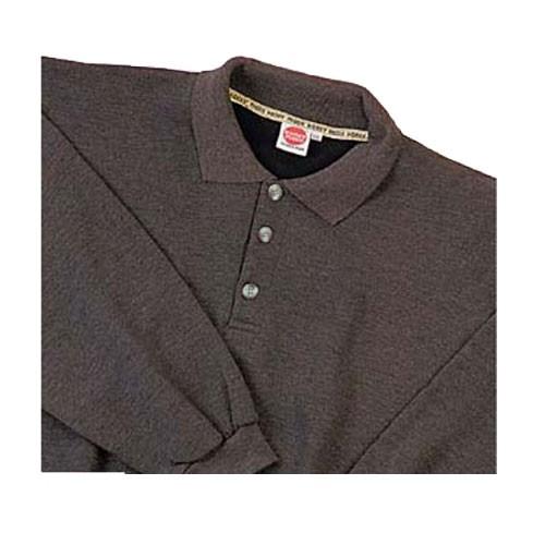 Heavy Polo Sweatshirt in anthrazit