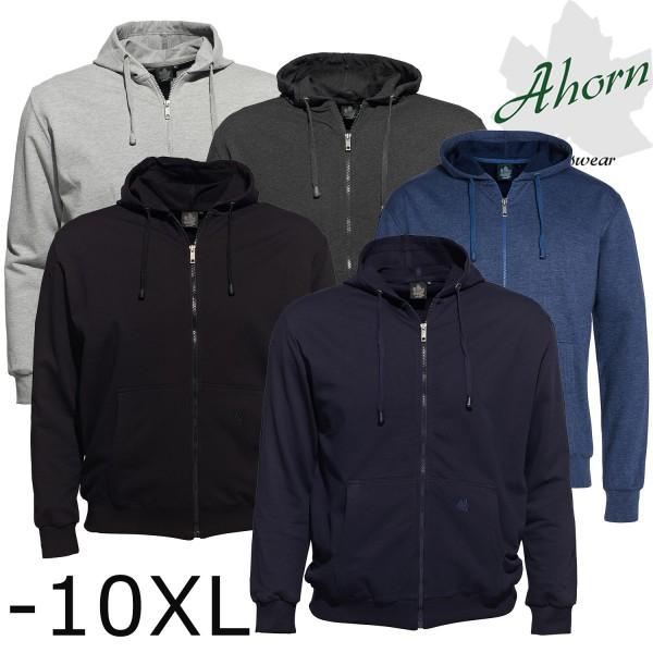 Ahorn Basic Sweat  Jacke mit Kapuze