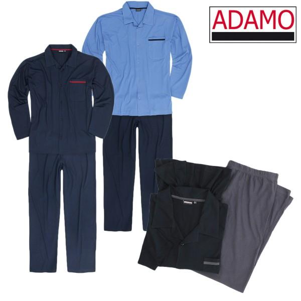 Adamo Pyjama lang mit Knopfleiste  BENNO