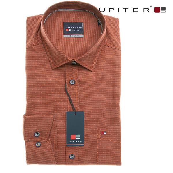 Jupiter 1/1 Hemd in der Farbe Ziegel