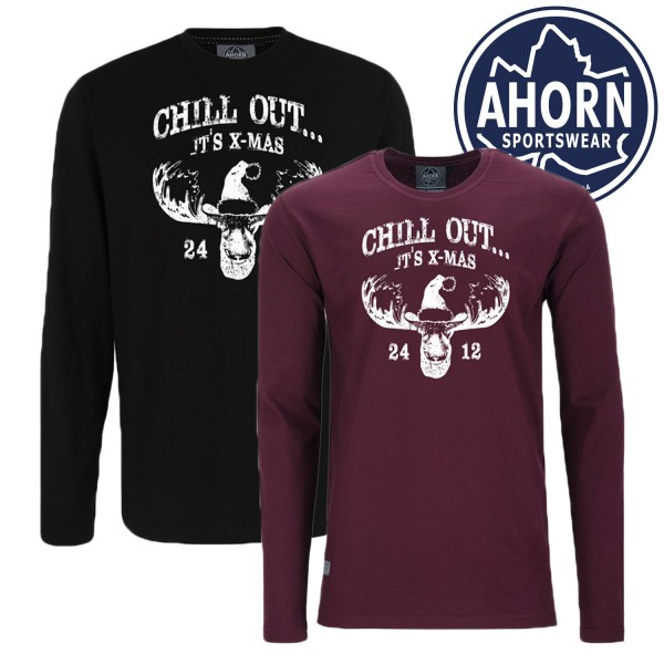 Ahorn Logshirt CHILL OUT it's X-mas