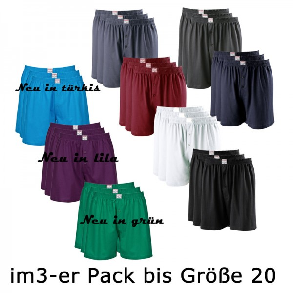 Adamo Basic Boxer Shorts im 3er Pack JAMES