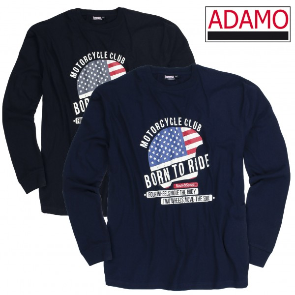Adamo Motiv-Long-Shirt Motorcycle BORN TO RIDE