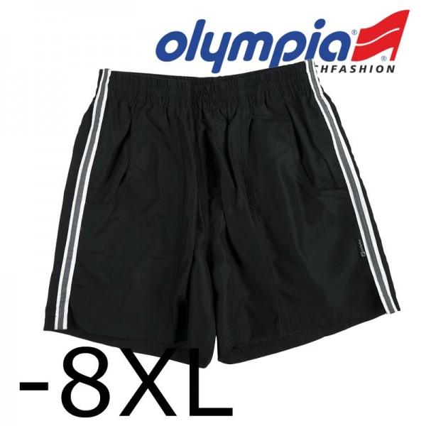 Olympia Badeshorts uni schwarz