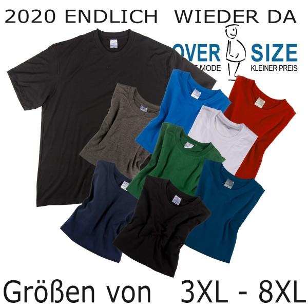 over-size Basic T-Shirt bis 8XL