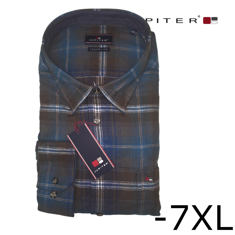 cd46c8d69c51 Jupiter leichtes Flanell Hemd 1 1   Hemden Langarm   Freizeitmode    Over-Size.de - Der Übergrößen Online Shop für Männer!