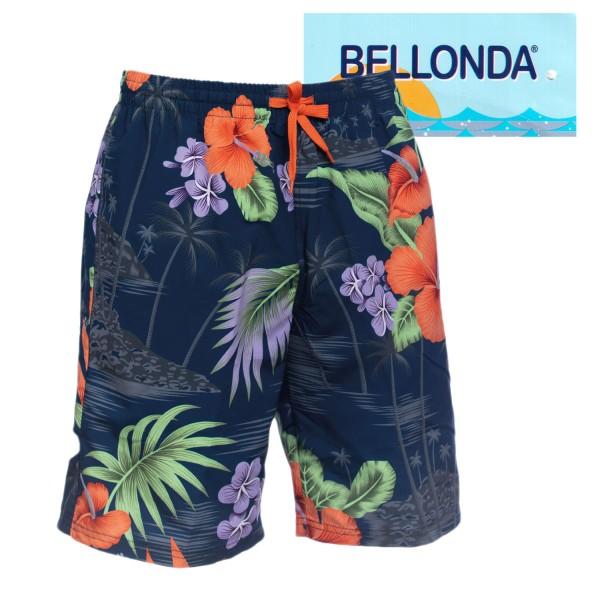 Bellonda Bade Longshorts mit farbigen Blüten- Motiv