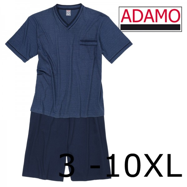 Adamo Pyjama- Shorty  mit V-Neck