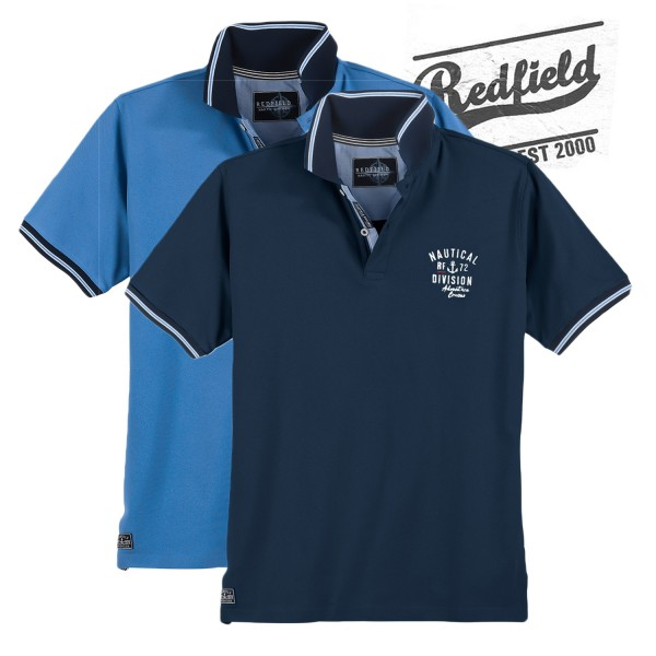 Redfield Polo Piquet Shirt Nautical Division