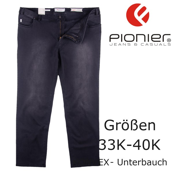 "Pionier 5-Pocket Jeans ""pure comfort"" BLACK- BLUE  washed"