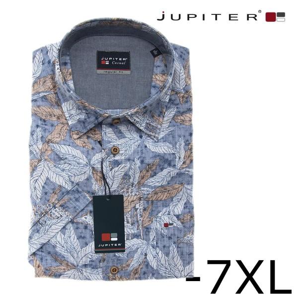 Jupiter Hemd 1/4 mit Blättermuster