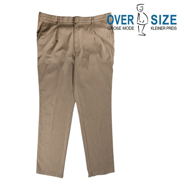 over-size Bundfaltenhose in beige