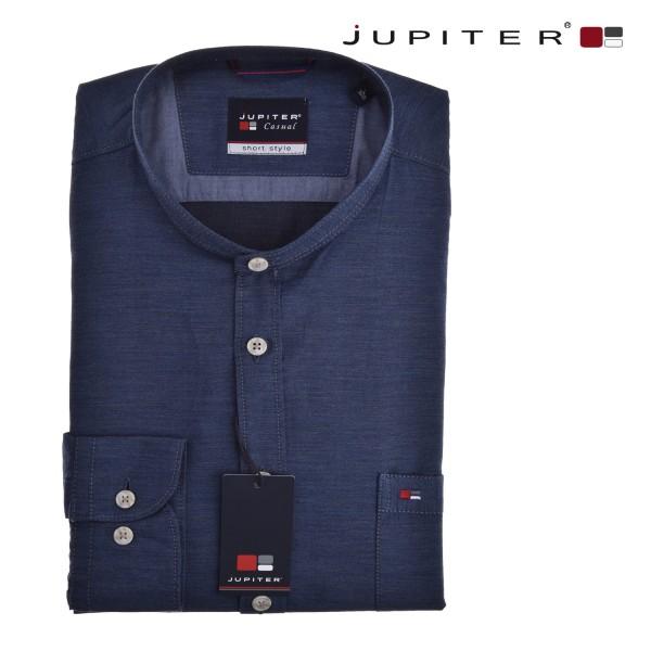Jupiter 1/1 Hemd in jeansblau-melange