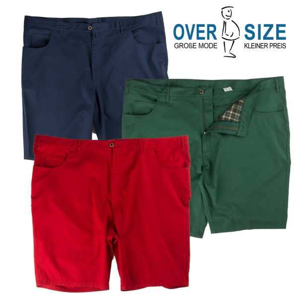 over-size bunte 5 Pocket- Bermudas