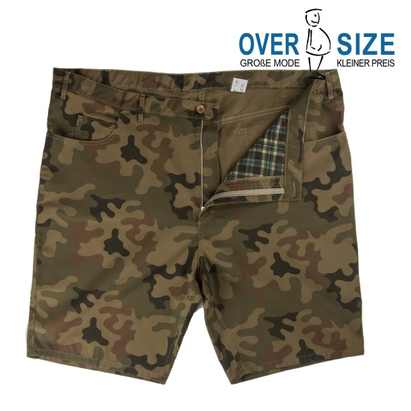 over-size 5 Pocket- Bermudas Camouflage