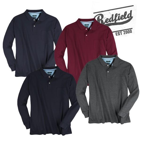 Redfield Basic Polo Pique 1/1 mit Tasche