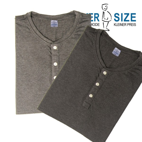 over-size Henley -Shirt aus recycelter Baumwolle