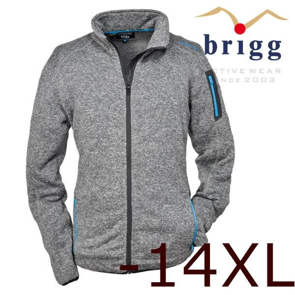Brigg Fleecejacke bis 14xl in edler Strick-Optik