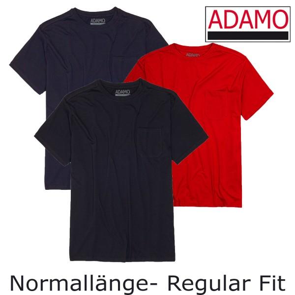 Adamo- T-Shirt m. Tasche  NORMALLÄNGE