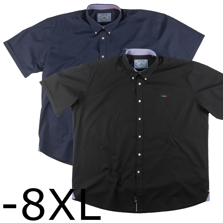 c5715266cc99 Redfield Sommer Freizeithemd mit 1 4 Armen   Hemden Kurzarm   Freizeitmode    Over-Size.de - Der Übergrößen Online Shop für Männer!