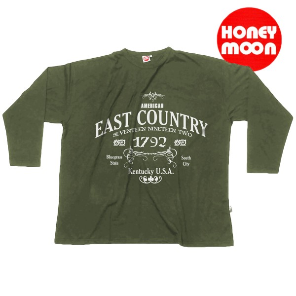 Honeymoon Sweatshirt 1792 in army- green