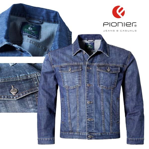 Pionier Jeansjacke in denim blue