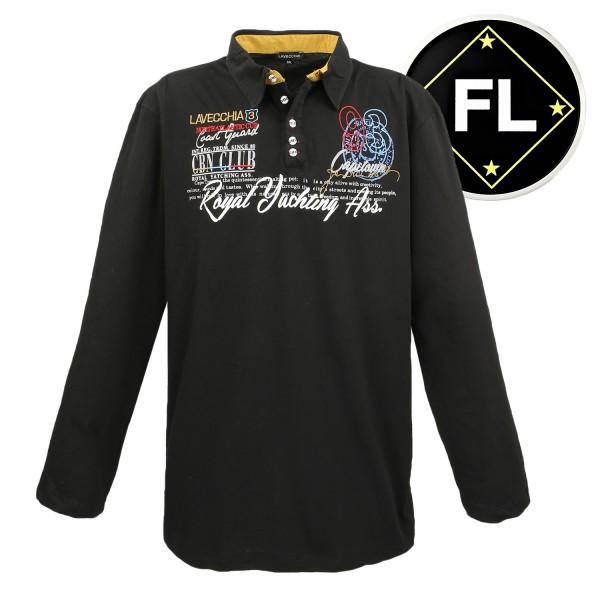 Lavecchia langarm Shirt in schwarz