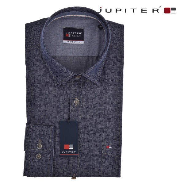 Jupiter elegantes Business Hemd in anthrazit-blau