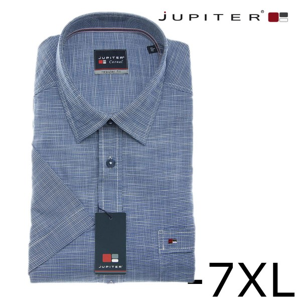 Jupiter kurzarm Hemd in navy