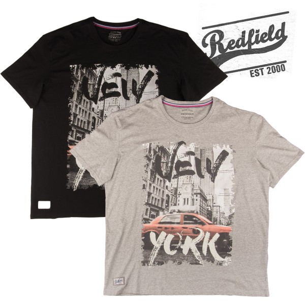 Redfield Druck T-Shirt  NEW YORK