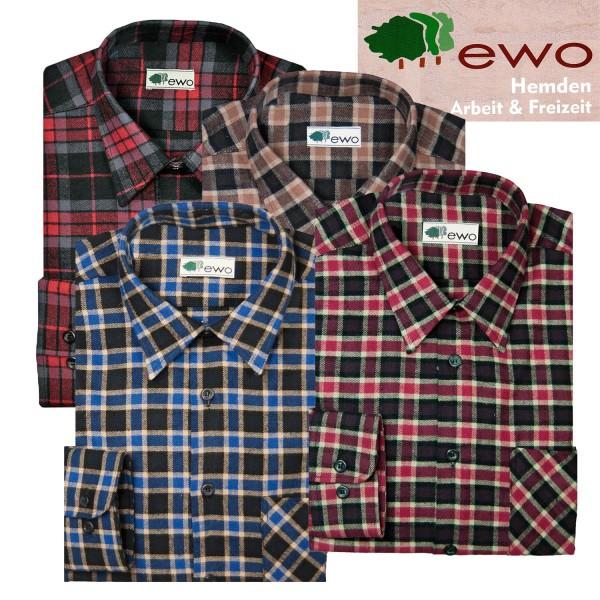 EWO dickes 1/1 Flanellhemd in 4 verschiedenen Karomustern