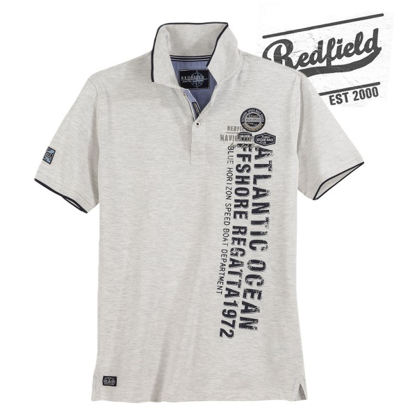 Redfield Polo Piquet Shirt Atlantic Ocean
