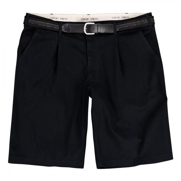 Elastik  Baumwoll- Dehnbund-Bermudas schwarz  in Übergröße 61 - 75