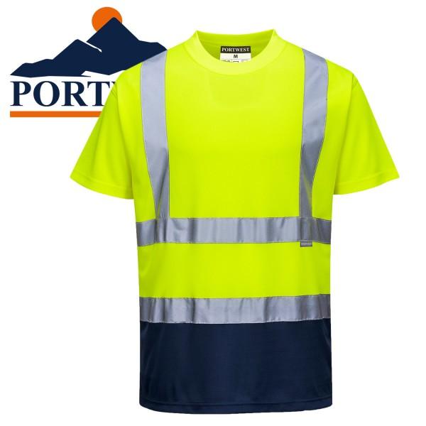 PORTWEST  Zweifarbiges Warnschutz T-Shirt