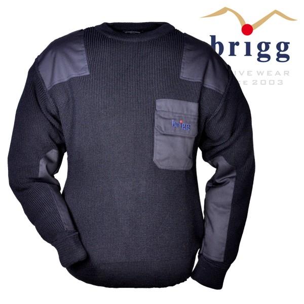 Brigg dicker Strick- Pullover mit Brusttasche