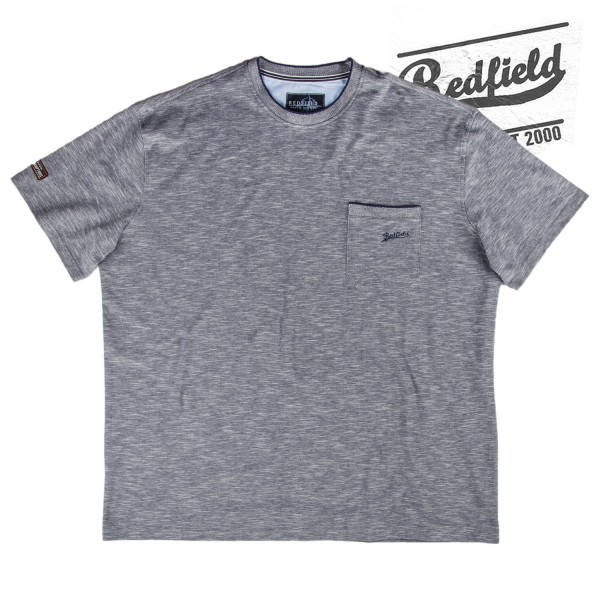 Redfield edles T-Shirt in nightblue melange mit Tasche