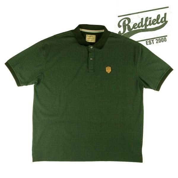Redfield Polo Shirt mit khaki Druck