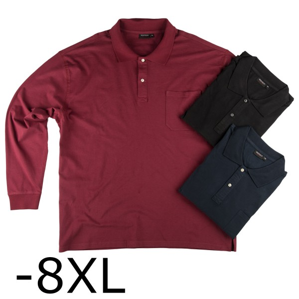 Redfield Basic Jersey Polo  1/1 mit Tasche